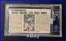Yankees Mickey Mantle 1964 Topps Giants #25 Autograph Auto Signed On Card PSA
