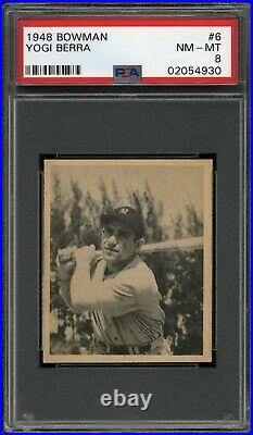 Yogi Berra 1948 Bowman Rookie Card #6 Psa 8